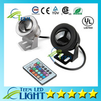 Wholesale IP65 W RGB Floodlight light Underwater LED Flood Lights Swimming Pool Outdoor Waterproof floodlights lighting Round DC V Convex Lens