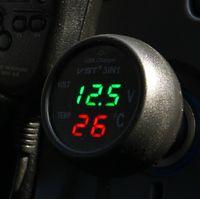 automotive voltmeter - Multifunction triple car thermometer car voltmeter automotive supplies USB phone charger