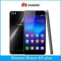 Original <b>Huawei</b> Honor 6 Doble SIM 4G LTE Kirin 920 Octa Núcleo 3GB RAM 5.0 '' cámara de 13MP de la parte posterior de los teléfonos lengua rusa