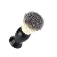 Wholesale Pure Blaireau Shaving Beard Brush Shaving Brush Man Face Cleaning Brush Black Handle Male Cleaning Tool