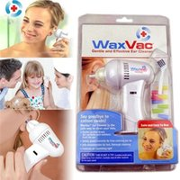 Wholesale 2016 WaxVac Ear Cleaner Wax Remover Gentle Light Reusable Silicon Tips Safe Clean Dry Ears With Logo Packing