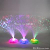 Wholesale 10pc Stars Night Light Colorful optic flower light educational children s toys birthday gift Colorful fiber optic lights A2