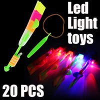 Wholesale Hot Flash LED Light Arrow Rocket Helicopter Rotating Flying Toy Party Fun