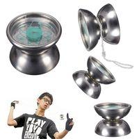 Wholesale New Professional Stainless Steel Magic YoYo Ball Bearing String Trick Yo Yo Toy Gift for Children Adult