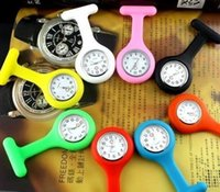 nurse gifts - 1000PCS Christmas Gifts Colorful Nurse Brooch Fob Tunic Watch Silicone Cover Nurse Watch Colors Free DHL