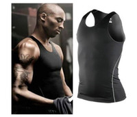 Wholesale Sports Fitness training shirts mens sports PRO tight vest basketball fitness training Jogging vest perspiration wicking clothes