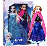 Wholesale 2pcs set Frozen Elsa Girl Doll Upgraded Version Joint Body Doll High Quality Elsa Anna Olaf Frozen Princess Classic Toys Baby Toy Doll
