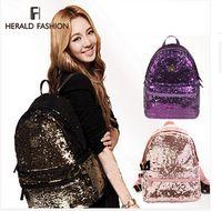 bling bag - 2015 Women s Colorful Crown Canvas Backpacks Girl Lady Student School Travel Bags Mochila escolar Women Bag Paillette Bling Bag
