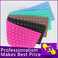 Wholesale-5pcs / lot fábrica 82keys venta directa plegable flexible impermeable de silicona suave 2.4G bluetooth inalámbrico de teclado para Tablet PC
