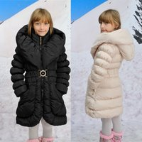 Wholesale Minus Degrees Children Outerwear Warm Coats Windproof Hooded Long Baby Girls Coats Child Down Jackets Kids Clothes For T