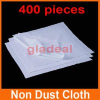 glass wiper - 400pcs Cleanroom Wiper Non Dust Cloth Dust Free Paper Cleaning LCD Touch Screen Repair Tool For iPhone Samsung