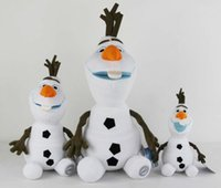 Wholesale 10 quot quot quot Olaf Plush Action Figures cm Stuffed Snowman Toys Action Figures for Children Christmas Toys Xmas Gift F034