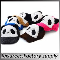 Wholesale Children s hats parent child cartoon panda baseball cap autumn and winter plush hat