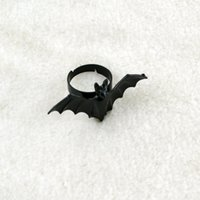 bats trading - Europe and the United States black bat personality jewelry trade opening rings for women