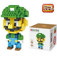 Wholesale Luigi Super Mario Yoshi etc Building Blocks Toy Story Buzz Lightyear Sheriff Woody Aliens Emperor Zurg DIY LOZ Blocks