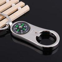 metal compass - 2015 German man personality compass key chain GX Stylish metal compass key ring Custom laser engraving LOGO