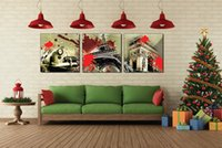 beijing painting - 3 Pieces Art Picture Paint on Canvas Prints Napoleon Eiffel Tower Beijing Forbidden City ferris wheel Moscow Kremlin New York