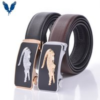 auto lock belt - Men Genuine Leather Belt Cowhide High Quality Auto Locked Buckle Leather Strap Genuine Luxury Brand Belts male waist