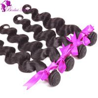 Extensions de cheveux naturels en ligne Avis-Perruque Péruvienne cheveux cheveux perruque UK en ligne cheveux péruviens 5A couleur naturelle 1B 4Pcs / cheveux cheveux extensions