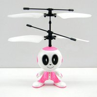 alien ufo toys - New Remote Control Toys RC Helicopter Dual Infrared Sensor UFO Flying Saucer Robot Aliens Pink