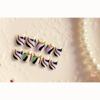 abstract painting tips - Abstract Painting False Finger Nail Art Sticker Display Manicure Decals Tips