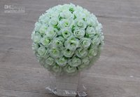 Wholesale Hot sale The High Quality Artificial Fabric Roses Flower Ball for Party Wedding Decoration cm diameter