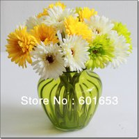 beam suits - High simulation flowers Gerbera African daisy beam silk flowers fake flowers suit floral arrangement sitting room adornment