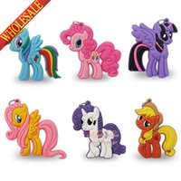 Wholesale Min Order My Little Pony Horse Cartoon Characters PVC Pendant Charms Accessories Fit for Keychains necklace Bracelets Best Gift