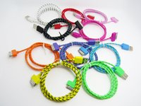 Wholesale 3ft m Fabric Braided USB Data Charging Cable Cord Charger Accessories for iPhone s DHL
