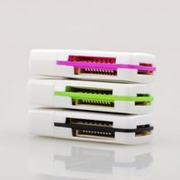 Wholesale USB in Memory Multi Card Reader for M2 SD SDHC DV Micro SD TF Card reader Hot Worldwide DY