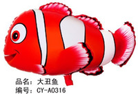 helium nemo prices - 50pcs lot 45*66cm big nemo helium balloon for party decoration balloons clown fish balloons animal shaped foil balloon