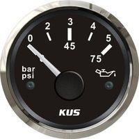Wholesale 52mm Oil pressure gauge bar for marine boat stainless steel bezel LED backlight black face