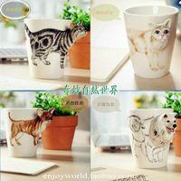 animal shaped mugs - Ceramic Animal Shaped Cup Coffee Mug Nice Dog Shape D Cat Milk Cups Water Mugs