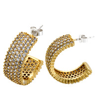 Wholesale New Arrival Earings Stud Earrings Lead Free18k Plated with Top Quality of Cubic Zircon Women Party Casual