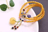 beeswax oil - Natural chicken oil yellow beeswax bracelet beads blood amber lapis lazuli Amazonite accessories bracelet