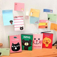 Wholesale 1PC Chic Cartoon Sticker Post It Bookmark Point Marker Memo Flags Sticky Notes