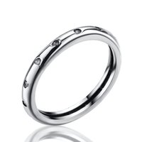 Wholesale New Sterling Silver Rings With Cubic Clear Zircon For Women Ring Wedding Party Birthday European Elegant Fashion Jewelry