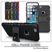 Wholesale TPU Cell Phone Case for iPhone plus S C S Heavy Duty Case TPU PC Stand Hard Phone Cover Case