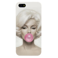 balloons blow - Blonde Girl Blowing Balloons Design Hard Plastic Phone Case Cover For iPhone S S C Plus