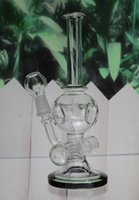 alien head - 8Inch Bong Skull Head Aliens Concentrate Oil Rig Bubbler with Slitted Inline Stemline Percolator Wax mm Joint Hookahs Instock