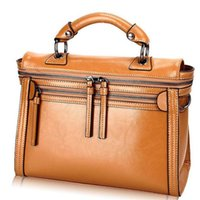 band tote - 100 genuine leather bags for women vintage motorcycle designer band high quality ladies tote shoulder bags messenger bags