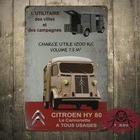 aluminum usage - Citroen HY La camionette A Tous Usages metal signs Garage Tavern Room Decoration