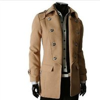 Wholesale Fall winter autumn new fashion classic Overcoat double features breasted coat Fleece lapel Cotton men s jacket