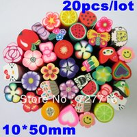 Wholesale mm mm Polymer Clay Nail Art Cane Stickers Rod Decoration Fruit Flowers big size
