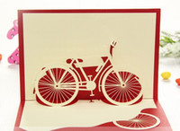pop up greeting card - Fashion Hot Bicycle Red Handmade D Pop UP Greeting Cards