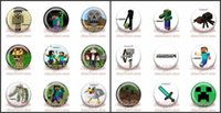 button badge - Minecraft Hot Game Tin Buttons Pins Badges MM Diameter Round Brooch Badges Mixed Styles Party Supplies Gift