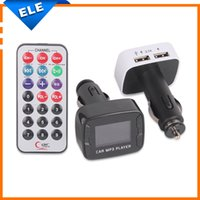 Wholesale 2015 New Arrivals Kit Car MP3 Player Wireless FM Transmitter Modulator with USB SD MMC LCD With Remote control USB car charger