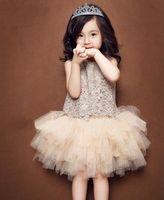 Wholesale Hug me new Babys Kids clothes spring summer sleeveless cotton lace flowers bow belt girls princess tutu dress ZZ