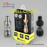 Wholesale 100 Authentic Uwell Crown Sub ohm Tank Tanks for new kanger kangertech dripbox w watt v2 starter kit joytetech vtc sigelei w