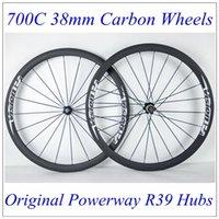best carbon clincher - Best Price Vision C mm Depth mm Width Full Cabon Fibre Road Bike Wheels K Weave Matt Finish Powerway R39 Hubs Carbon Wheels